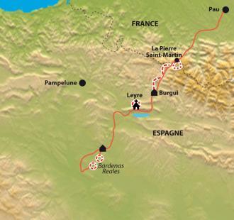 Carte Des Pyrénées au désert des Bardenas, la plus belle traversée de la Navarre