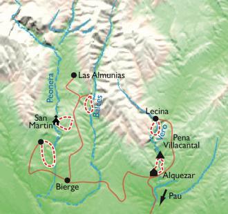 "Carte ""Rand'eau"" tapas à Alquezar, la randonnée aquatique en Sierra de Guara"