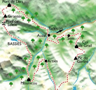 Carte Retrouvance en vallée de Vicdessos, la frontière sauvage