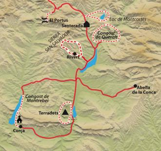 Carte Sierras secrètes de Catalogne