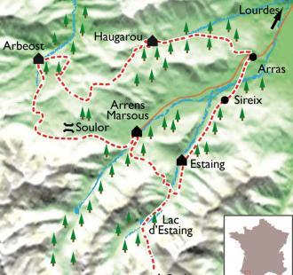 Carte Le Tour du Val d'Azun, Eden pyrénéen