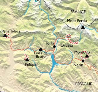 Carte Randonnée Yoga en Aragon, parc National d'Ordesa