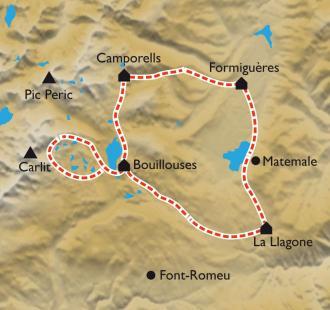 Carte Le Tour des lacs du Capcir en douceur