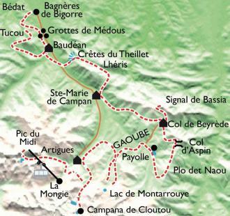 Carte Autour du Pic du Midi, retour vers le futur !