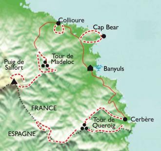 Carte Balades thalasso à Banyuls au soleil des côtes de Collioure