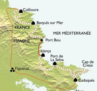Carte Collioure - Cadaquès : le best-of