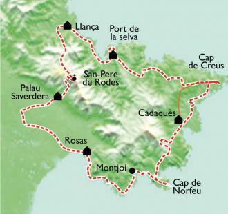 Carte Sentiers côtiers de Cadaquès et du Cap de Creus
