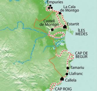 Carte Costa Brava, criques, soleil et petits ports de Catalogne