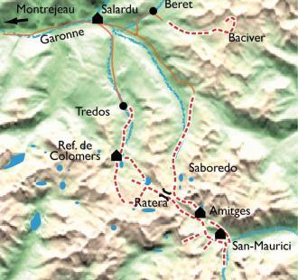 Carte Encantats, Lacs et Aiguilles du Parc National