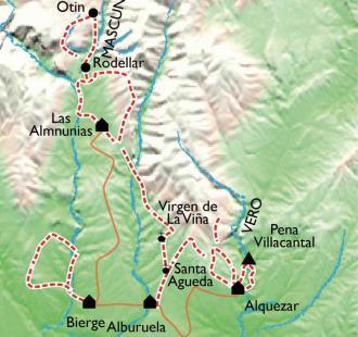 Carte Les sentiers de la Guara, d'Alquezar au Mascun