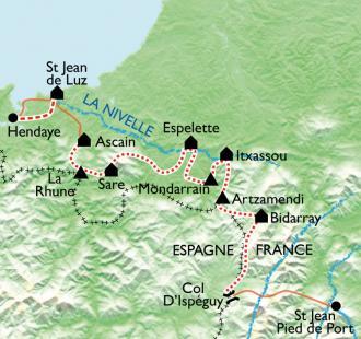Carte De la montagne à l'océan, traversée douillette du Pays Basque