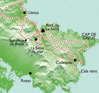 Carte Port de la Selva - Cap de Creus, balades et Spa au pays de Dali