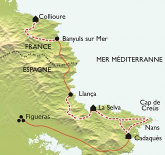Carte Quintessence de Collioure Cadaquès, l'escapade de charme
