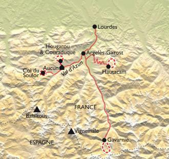 Carte Joyeux trappeurs entre Gavarnie et Val d'Azun, la neige en famille
