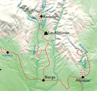 Carte Canyons en famille dans la Sierra de Guara