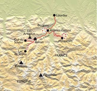 Carte P'tits aventuriers dans les Pyrénées