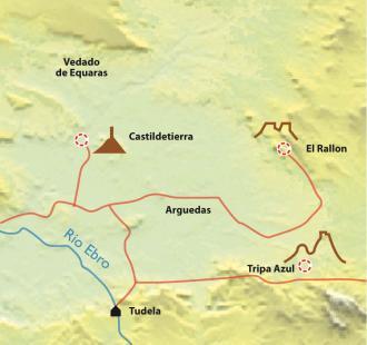 Carte Réveillon à Tudela, aux portes des Bardenas