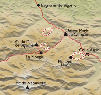Carte Réveillon au pied du Pic du Midi de Bigorre