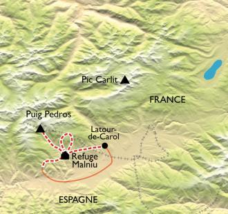 Carte Cerdagne, Réveillon en refuge d'altitude