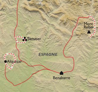 Carte Réveillon entre Sierra de Guara et Montrebei