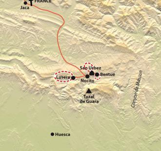 Carte Réveillon chez Eric, au cœur de la Sierra de Guara