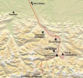 Carte Raquettes confort en vallée d'Aure