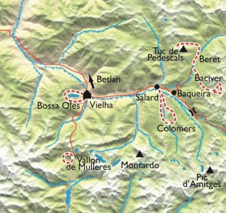 Carte Val d'Aran - Encantats,  raquette gourmande et tapas