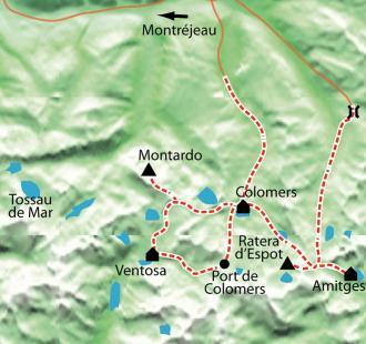 Carte Au cœur des Encantats à ski de rando