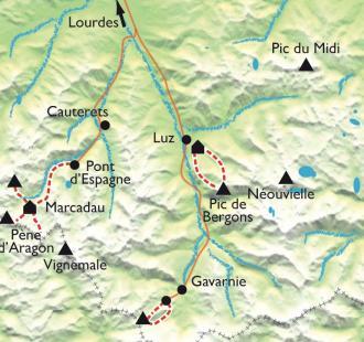 Carte Ski de rando Gavarnie-Cauterets, facile et sublime !