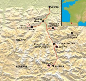 Carte Ski de rando dans les Vallées de Gavarnie