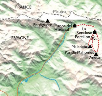 Carte Aneto, escapade en ski de rando sur le point culminant !