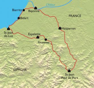 Carte Trésors cachés du Pays Basque en vélo électrique