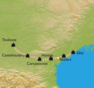 Carte Le Canal du Midi, de Toulouse à Sète