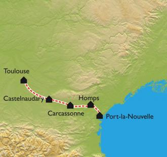 Carte Le Canal du Midi, de Toulouse à Port-la-Nouvelle