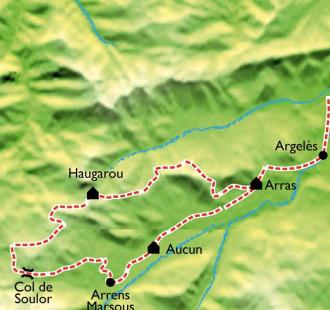 Carte Val d'Azun - Pays des Gaves à VTT
