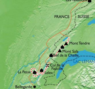 Carte Les crêtes du Jura Sud