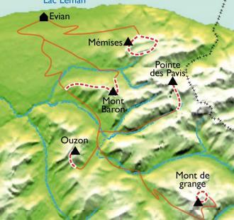 Carte Sentiers et saveurs du Léman