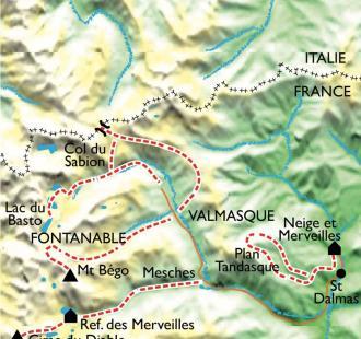 Carte Mercantour et vallée des Merveilles