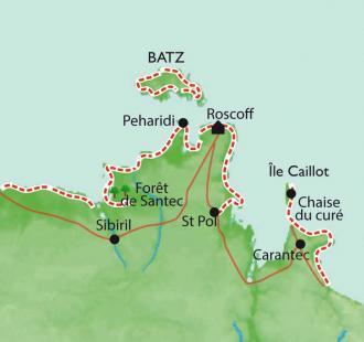 Carte Roscoff - Ile de Batz, Remise en forme
