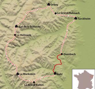Carte Traversée des Hautes Vosges tout confort