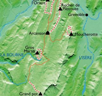 Carte Les plus beaux Sentiers et Sommets du Vercors