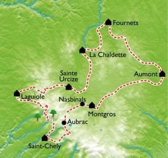 Carte Le Tour de l'Aubrac