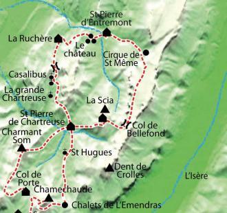 Carte Tour de la Chartreuse