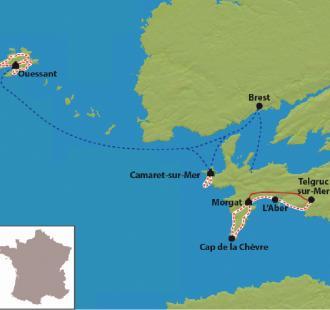 Carte La Presqu'île de Crozon