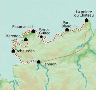 Carte La côte de Granit Rose