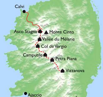 Carte Corse, GR20 NORD