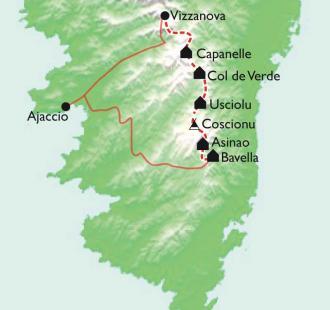 Carte Corse, GR20 SUD