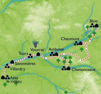 Carte Les Châteaux de la Loire
