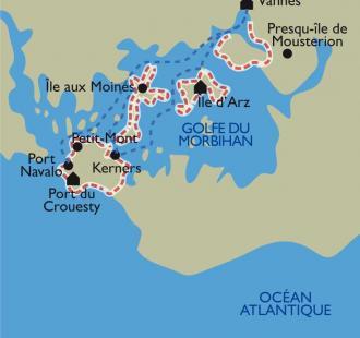 Carte Le Golfe du Morbihan