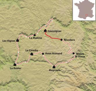 Carte Randonnée les Gorges du Tarn et de la Jonte